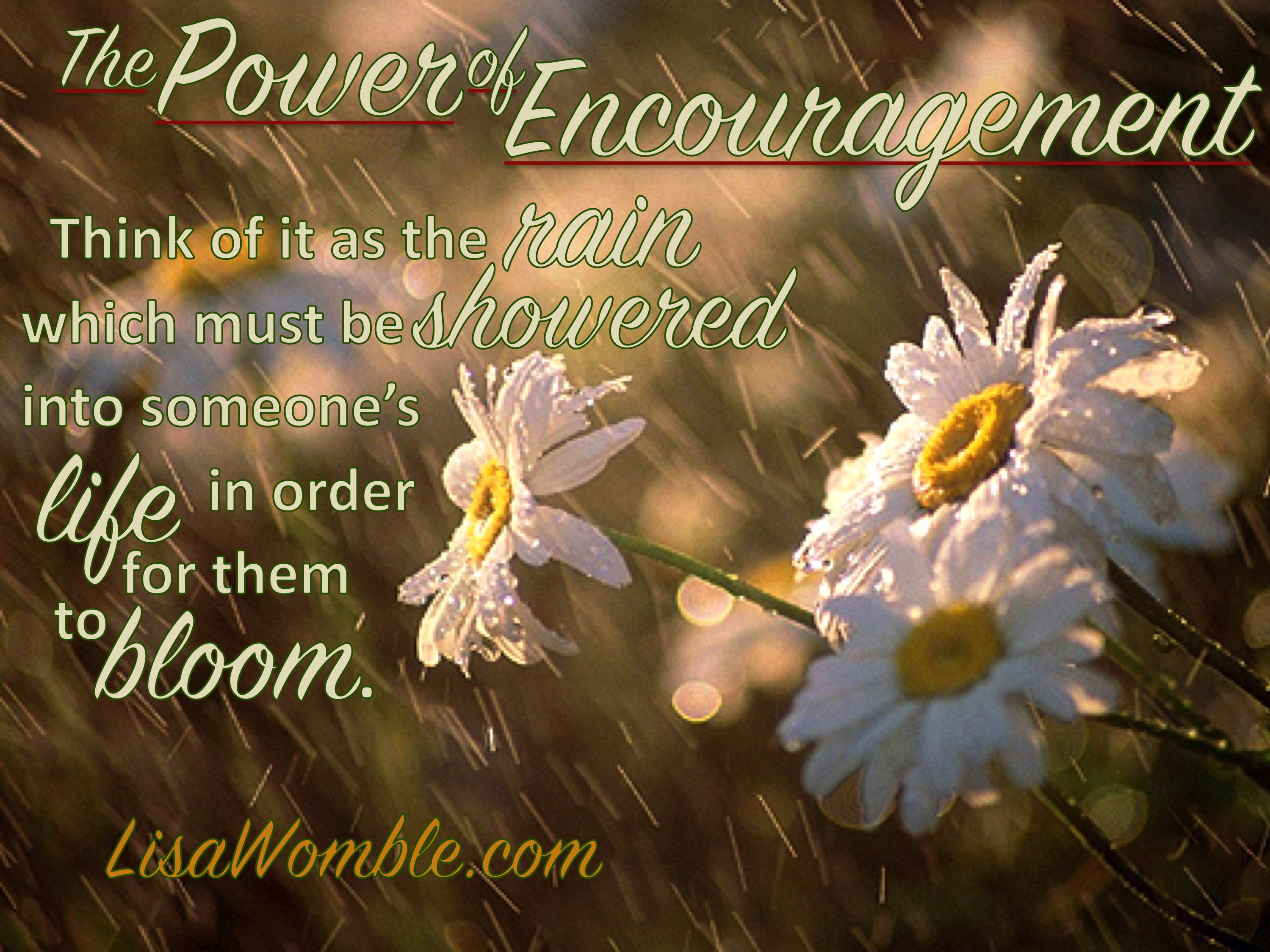 Bring The Rain By Which The Flowers Bloom April Encouragers