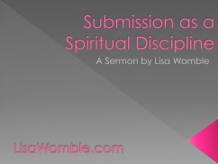 Submission as a Spiritual Discipline