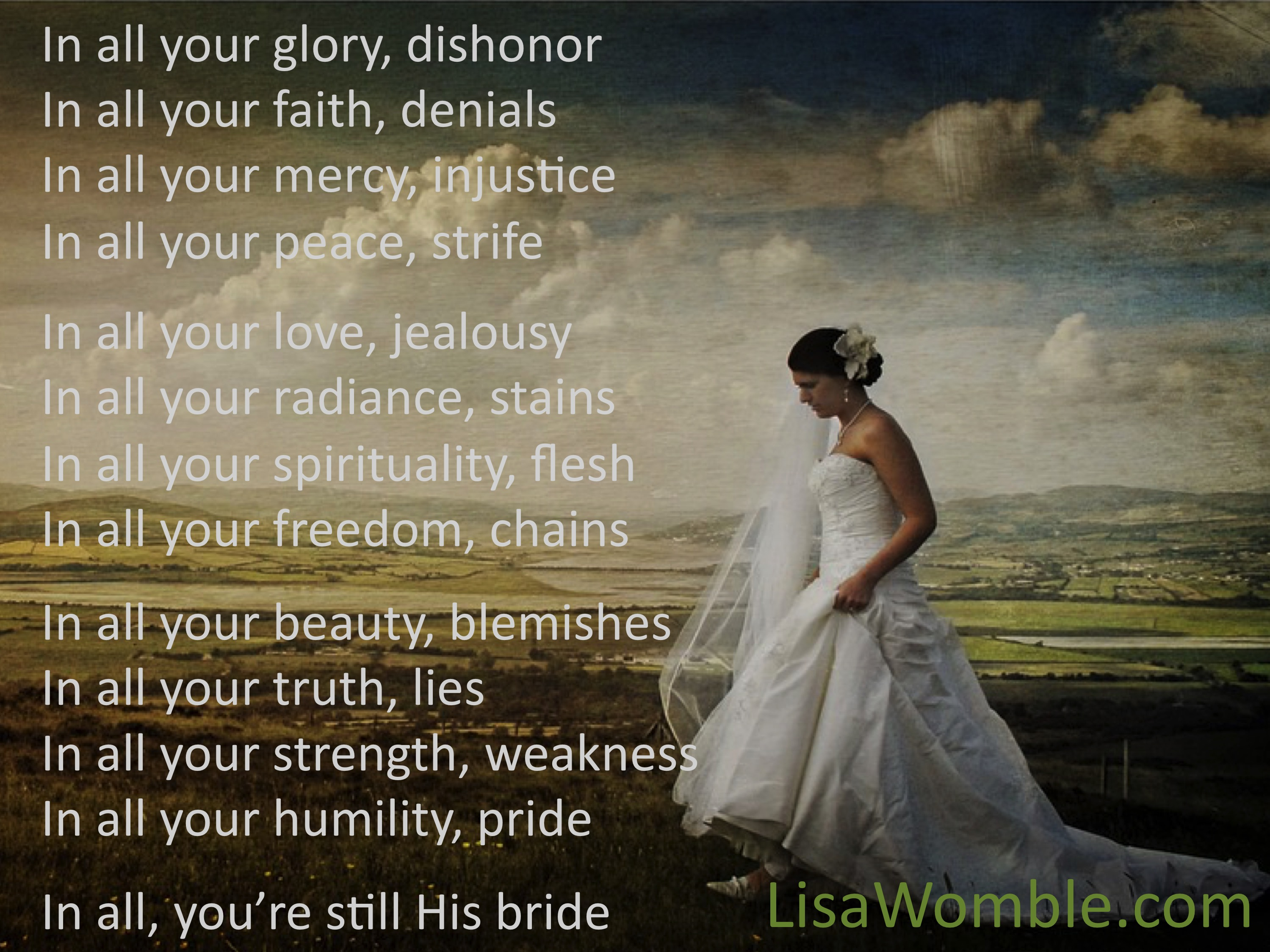 The Bride Of Christ Pull Up A Chair